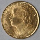 Photo numismatique  MONNAIES MONNAIES DU MONDE SUISSE CONFEDERATION 10 francs or de 1922.