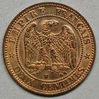 Photo numismatique  MONNAIES MODERNES FRANÇAISES NAPOLEON III, empereur (2 décembre 1852-1er septembre 1870)  Deux centimes.