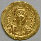 Photo numismatique  MONNAIES EMPIRE BYZANTIN JUSTIN Ier (518-527)  Solidus.