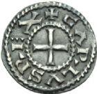 Photo numismatique  MONNAIES CAROLINGIENS CHARLES LE CHAUVE, roi (840-875)  Denier de Bourges.