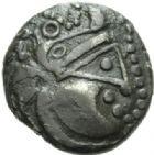 Photo numismatique  MONNAIES GAULE - CELTES COTENTIN (UNELLI) et JERSEY  Statère de billon.