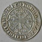 Photo numismatique  MONNAIES BARONNIALES Comté de PROVENCE ROBERT d'ANJOU (1309-1343) Carlin d'argent, comme roi de Jérusalem et Sicile.
