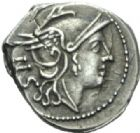 Photo numismatique  MONNAIES RÉPUBLIQUE ROMAINE Anonyme (vers 187-155)  Sesterce d'argent.