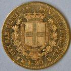 Photo numismatique  MONNAIES MONNAIES DU MONDE ITALIE SAVOIE-SARDAIGNE, Victor Emmanuel II, roi élu (1849-1861) 20 lire or.