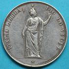 Photo numismatique  MONNAIES MONNAIES DU MONDE ITALIE LOMBARDIE, gouvernement provisoire 5 lire de 1848.