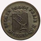 Photo numismatique  MONNAIES MONNAIES DU MONDE ALLEMAGNE BRÈME Ville Libre Douzième de thaler ou 6 Grote.