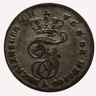 Photo numismatique  MONNAIES MONNAIES DU MONDE ALLEMAGNE MECKLENBURG-SCHWERIN Dreiling ou 3 pfennig.