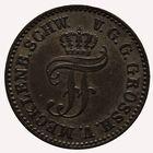 Photo numismatique  MONNAIES MONNAIES DU MONDE ALLEMAGNE MECKLENBURG-SCHWERIN 1/48e de Thaler.
