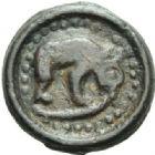 Photo numismatique  MONNAIES GAULE - CELTES REMI (région de Marne et Ardennes)  Potin au bucrane.