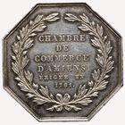 Photo numismatique  JETONS PÉRIODE MODERNE CHAMBRE DE COMMERCE AMIENS (Somme) Jeton, 1761.