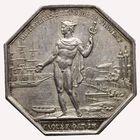 Photo numismatique  JETONS PÉRIODE MODERNE CHAMBRE DE COMMERCE BORDEAUX (Gironde) Jeton des Courtiers de commerce.