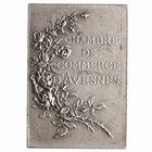 Photo numismatique  MEDAILLES PERIODE MODERNE CHAMBRE DE COMMERCE AVESNES (Nord) Plaquette.