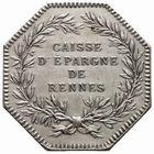 Photo numismatique  JETONS PERIODE MODERNE CAISSES D'EPARGNE RENNES (Ille-et-Vilaine) Jeton.