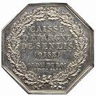 Photo numismatique  JETONS PÉRIODE MODERNE CAISSES D'EPARGNE SENLIS (Oise) Jeton.