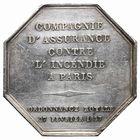 Photo numismatique  JETONS PERIODE MODERNE ASSURANCES La France contre l'incendie - Paris Jeton.