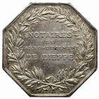 Photo numismatique  JETONS PERIODE MODERNE NOTAIRES DIEPPE (Seine-Inférieure) Jeton.