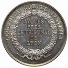 Photo numismatique  JETONS PERIODE MODERNE PROFESSIONS JUDICIAIRES Avoués près le Tribunal de Lyon Jeton.