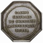 Photo numismatique  JETONS PERIODE MODERNE TRANSPORTS, ENERGIES Caisse centrale du commerce et des Chemins de Fer Jeton.
