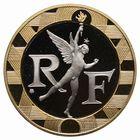 Photo numismatique  MONNAIES MODERNES FRANÇAISES 5ème RÉPUBLIQUE (Depuis le 4 octobre 1958)  Essai bicolore en or de 10 francs.