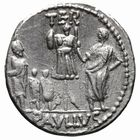 Photo numismatique  MONNAIES RÉPUBLIQUE ROMAINE L. Aemilius Lepidus Paullus (vers 62)  Denier.