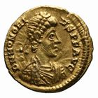 Photo numismatique  MONNAIES EMPIRE ROMAIN HONORIUS (393-423)  Tremissis.