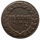 Photo numismatique  MONNAIES MODERNES FRANÇAISES LE DIRECTOIRE (27 octobre 1795-10 novembre 1799)  Décime.