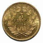 Photo numismatique  MONNAIES MODERNES FRANÇAISES NAPOLEON III, empereur (2 décembre 1852-1er septembre 1870)  5 francs or petit module.
