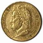 Photo numismatique  MONNAIES MODERNES FRANÇAISES LOUIS-PHILIPPE Ier (9 août 1830-24 février 1848)  20 francs or.