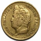 Photo numismatique  MONNAIES MODERNES FRANÇAISES LOUIS-PHILIPPE Ier (9 août 1830-24 février 1848)  40 francs or.