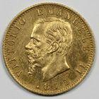Photo numismatique  MONNAIES MONNAIES DU MONDE ITALIE SAVOIE-SARDAIGNE, Victor Emmanuel II, roi d'Italie (1861-1878) 20 lire or.