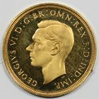 Photo numismatique  MONNAIES MONNAIES DU MONDE ANGLETERRE GEORGE VI (1936-1952) Demi souverain or, proof.