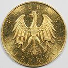 Photo numismatique  MONNAIES MONNAIES DU MONDE AUTRICHE République (depuis 1918) 100 schilling or.