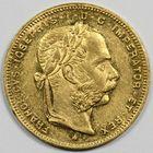 Photo numismatique  MONNAIES MONNAIES DU MONDE AUTRICHE FRANCOIS-JOSEPH (1848-1916) 8 florins ou 20 France or.