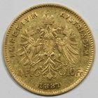 Photo numismatique  MONNAIES MONNAIES DU MONDE AUTRICHE FRANCOIS-JOSEPH (1848-1916) 4 florins ou 10 francs or.