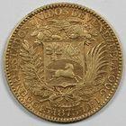 Photo numismatique  MONNAIES MONNAIES DU MONDE VÉNÉZUELA ETATS UNIS (après 1864) 5 venesolanos ou 25 bolivares or.