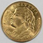 Photo numismatique  MONNAIES MONNAIES DU MONDE SUISSE CONFEDERATION 10 francs or de 1916.