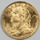 Photo numismatique  MONNAIES MONNAIES DU MONDE SUISSE CONFEDERATION 20 francs or.