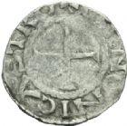 Photo numismatique  MONNAIES CAROLINGIENS LOTHAIRE II (954-986)  Denier de Chinon.