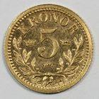 Photo numismatique  MONNAIES MONNAIES DU MONDE SUEDE OSCAR II (1872-1907) 5 couronnes or.