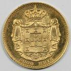 Photo numismatique  MONNAIES MONNAIES DU MONDE PORTUGAL LOUIS Ier (1861-1889)  5000 reis or.
