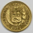 Photo numismatique  MONNAIES MONNAIES DU MONDE PEROU République (depuis 1821) 1 loibrai or.