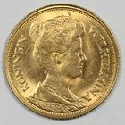 Photo numismatique  MONNAIES MONNAIES DU MONDE PAYS-BAS WILHELMINE (1890-1948) 5 gulden or.