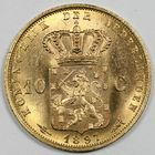 Photo numismatique  MONNAIES MONNAIES DU MONDE PAYS-BAS WILHELMINE (1890-1948) 10 gulden or.
