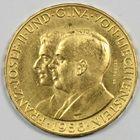 Photo numismatique  MONNAIES MONNAIES DU MONDE LIECHTENSTEIN Prince FRANCOIS-JOSEPH  II (1938-1990) 50 Franken or.