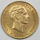 Photo numismatique  MONNAIES MONNAIES DU MONDE ESPAGNE ALPHONSE XII (1874-1885) 25 pesetas or.