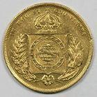 Photo numismatique  MONNAIES MONNAIES DU MONDE BRÈSIL PIERRE II (1831-1889) 10 000 reis or.