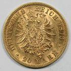 Photo numismatique  MONNAIES MONNAIES DU MONDE ALLEMAGNE WURTEMBERG, Karl (1864-1891) 20 marks or.