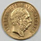 Photo numismatique  MONNAIES MONNAIES DU MONDE ALLEMAGNE SAXE, Albert (1873-1902) 20 marks or.