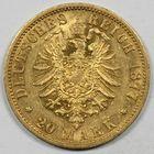 Photo numismatique  MONNAIES MONNAIES DU MONDE ALLEMAGNE PRUSSE, Guillaume 1er (1861-1888) 20 marks or.