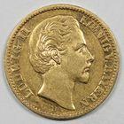Photo numismatique  MONNAIES MONNAIES DU MONDE ALLEMAGNE BAVIÈRE, Louis II (1864-1886) 20 marks or.
